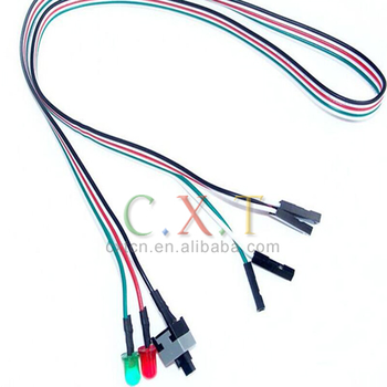 PC computer host case ATX Power Reset Switch Cable cord HDD LED Light, View  pc power reset switch cable, computer power sw, pci switch Product Details