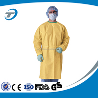 CPE yellow isolation gown disposable gown for sale