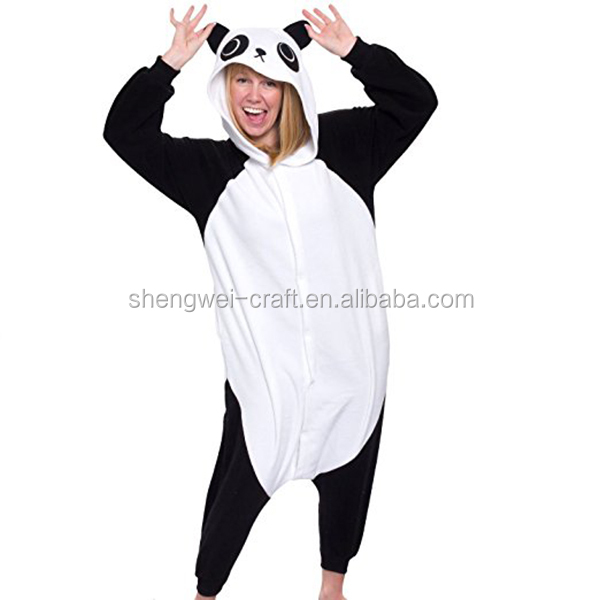 Factory hot sale adult panda costume