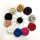 wholesale new design wedding leather flower brooch pin