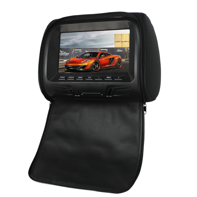 Portable TFT 7 Inch  lcd car Headrest Monitors with USB Input