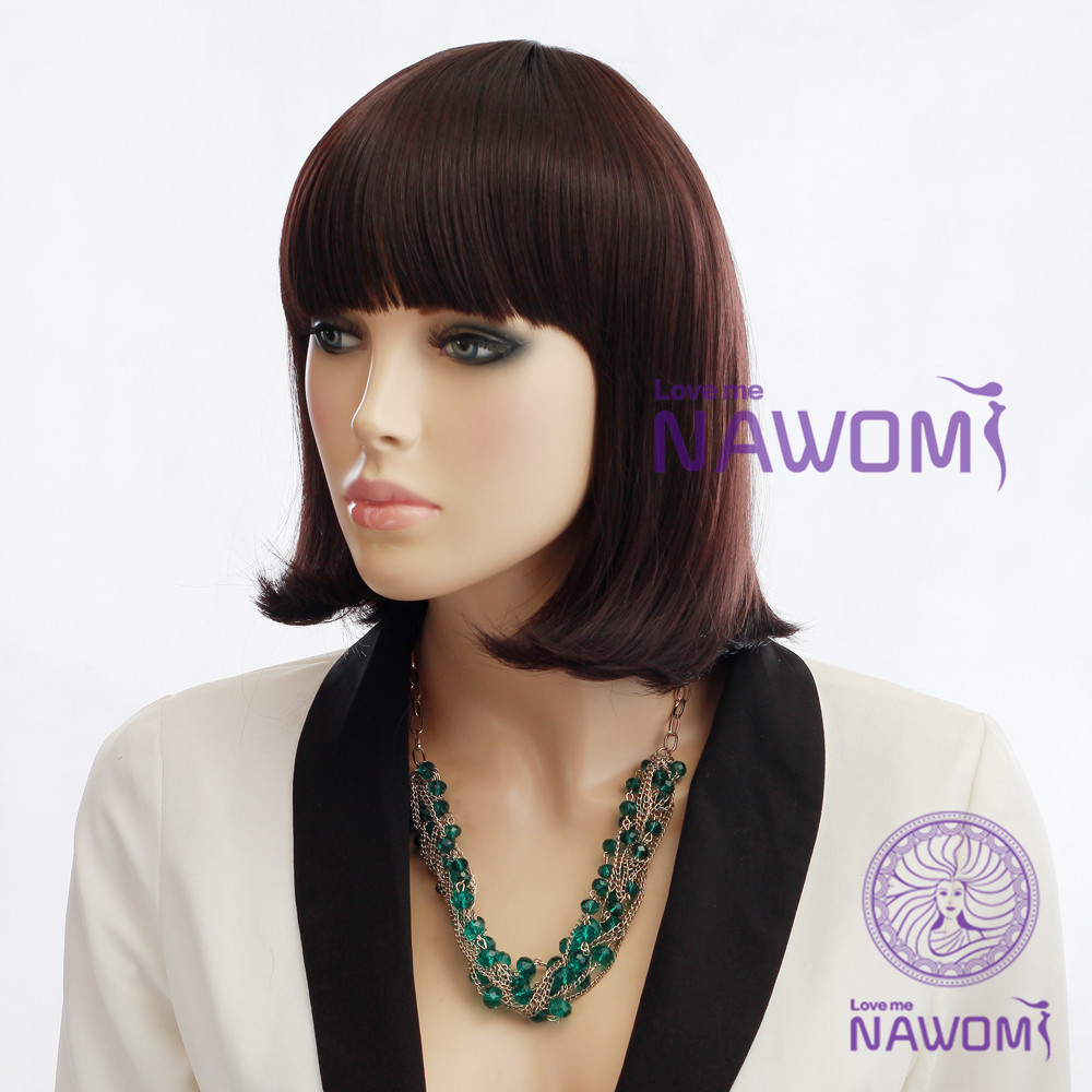 B0031 Charming and unprocessed human hair malaysian full lace wigs