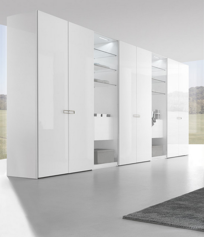 Simple Design Bedroom Closet White Lacquer Open Door Wood Wardrobe Cabinets  - Buy Simple Design Bedroom Closet,White Lacquer Wardrobe Cabinet,Wood ...