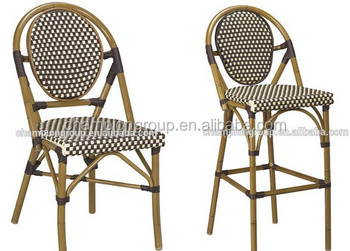 French Bistro Chairs, French Style Rattan Chair With Round Back AS 6215