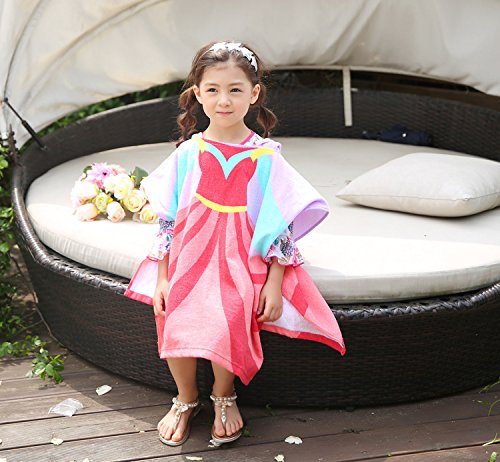 Kids Hooded Towel Wrap for Bath Pool or Beach Princess