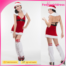 Factory Price Latest New Sweet Lady Sexy Christmas Elf Costumes