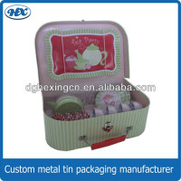 China factory supplied coaster tin set tea cup child toy sets