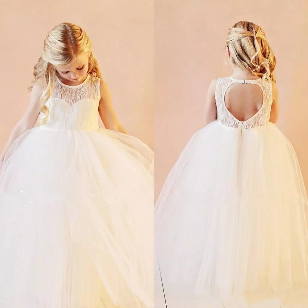 Zh10x Vintage Blume Mädchen Kleider Hochzeit Kleider Bodenlangen Spitze  Weiß Organza Flower Kleider Für Hochzeit - Buy Kinder Party Kleid,Mädchen