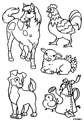 farm animals DIY Coloring Stained Stickers For Kids Art and Crafts For Kids Window Clings Family Activities Fun Crafts For Kids Art Projects Removable Windows Stained Glass Decals