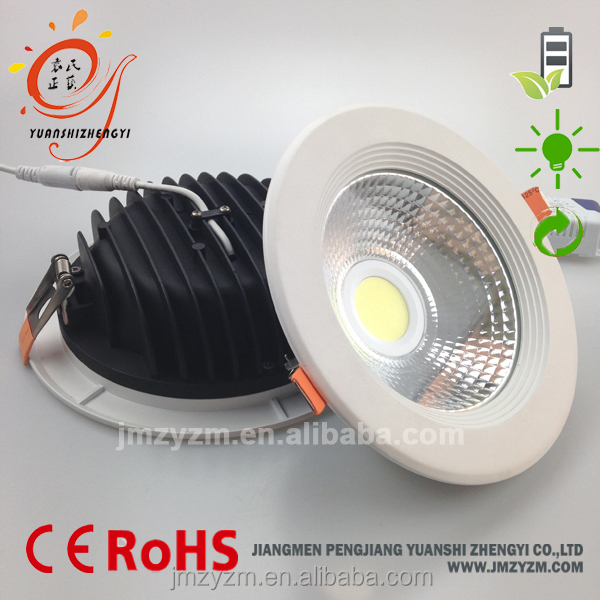 Jiangmen 230v recessed dimmable round 7w 20w cob led ceiling downlight