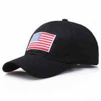 Wholesales Custom Embroidery USA Flag Curved Short Brim Baseball Cap Dad Hat