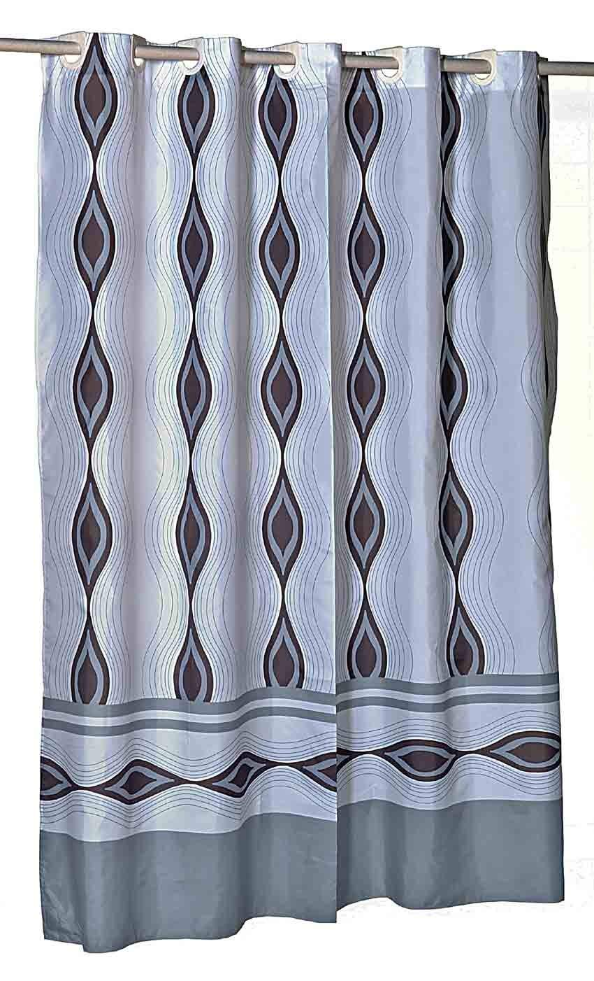 Get Quotations Harlequin EZ On Hookless Fabric Extra Wide Shower Curtain With Built In Hooks