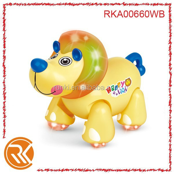B/O cartoon lion toys with music and light