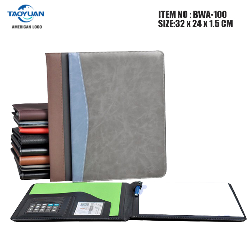 Office stationery executive A4 zipped conference padfolio portfolio file folder