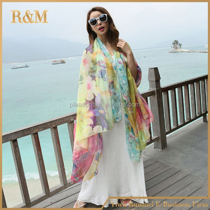 2016 Top Quality Wholesale custom print qatar scarf