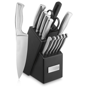 Stainless Steel Hollow Handle 15pc Cutlery Knife Block Set