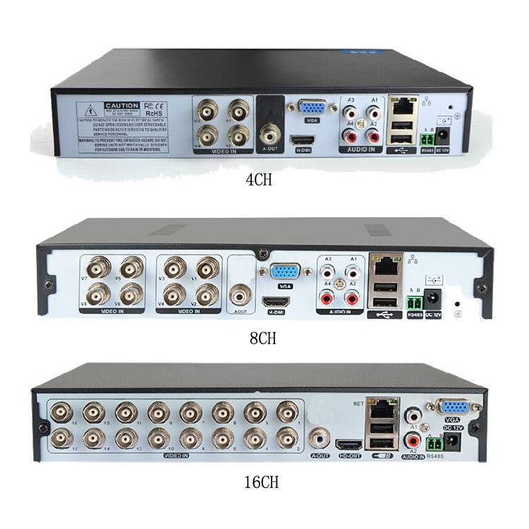 Professional CCTV AHD 5 IN 1Audio Input And Output DVR 3TB DVR Security System BS-104NS