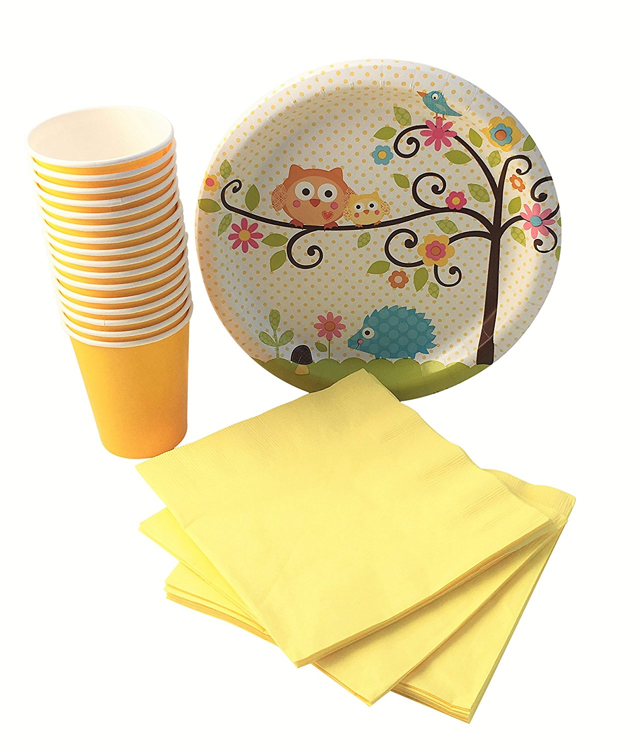 Get Quotations · Owl Baby Shower Party Supplies Bundle for 16 Guests Disposable Paper Plates Cups  sc 1 st  Alibaba & Cheap Owl Party Plates find Owl Party Plates deals on line at ...