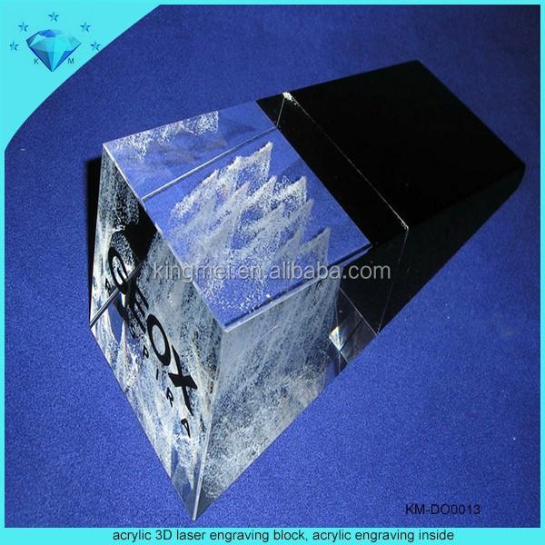 Acrylic 3d Laser Engraving Block Acrylic Engraving Inside