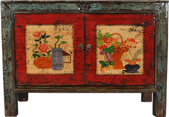 Charmant Traditional Chinese Furniture Vintage Furniture China Antique Painting  Furniture Distress Lacquered Cabinet