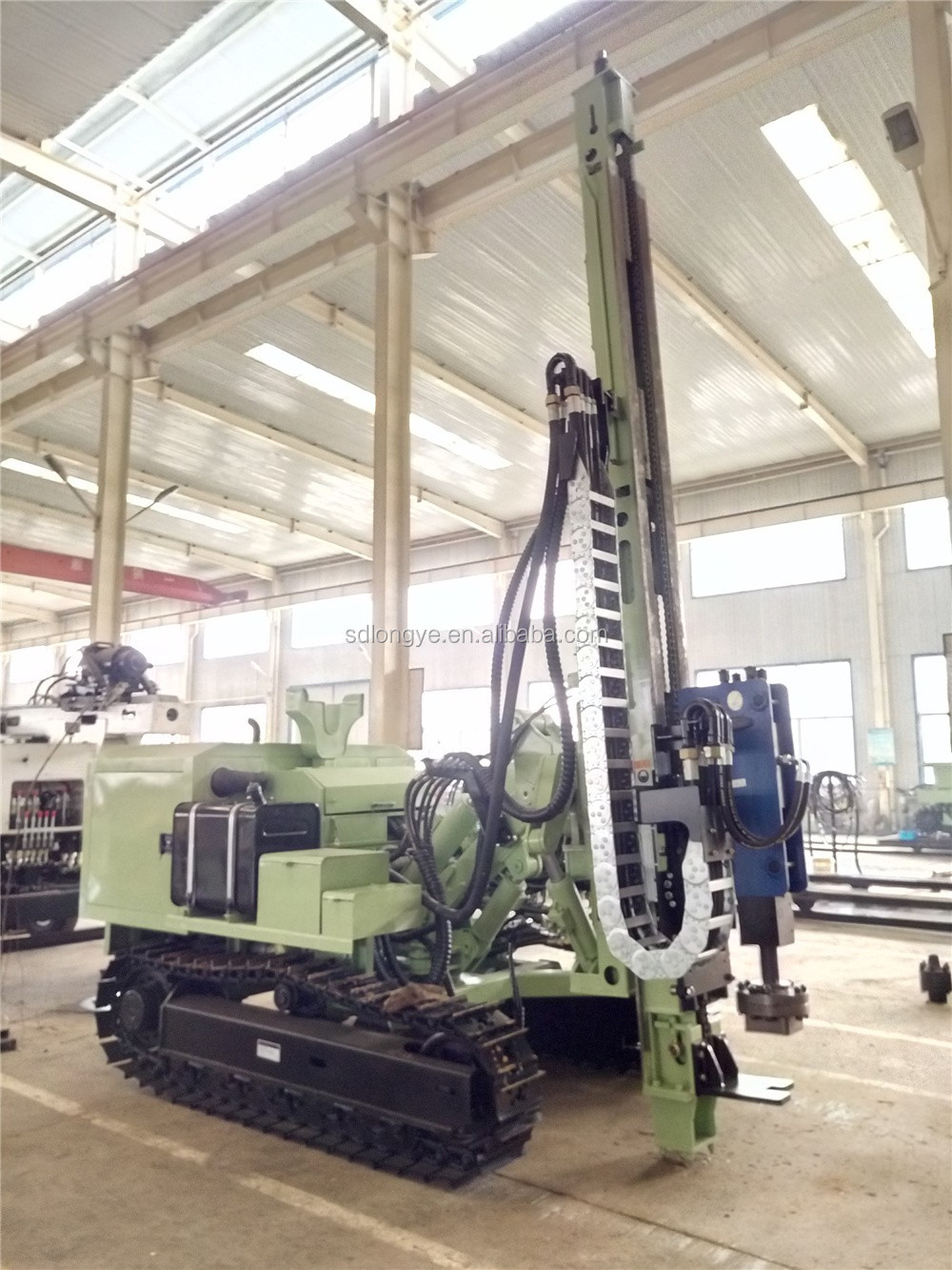 China biggest supplier solar hydraulic soil auger screw piling rig MZ385Y