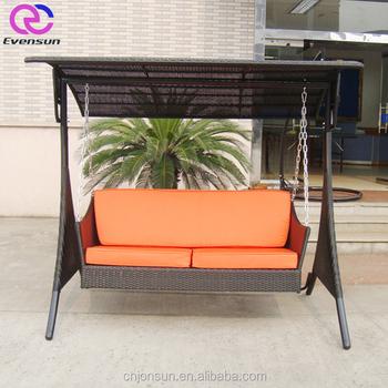 2018 Modern Hanging Garden Swing Chairs With Waterproof Cushion