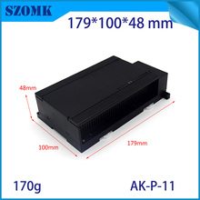 plastic din rail box for electronic device custom plastic enclosure din rail mould housing