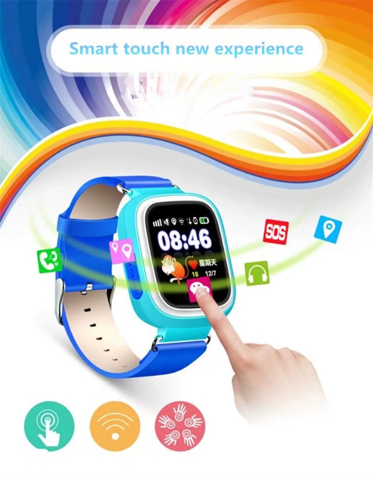 Q90 kids gps watch baby children gps tracker phone watches touch screen wristwatch for ios android phone