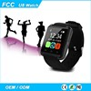 High quality full inspection wrist smartwatch u8 bluetooth smart wrist watch phone