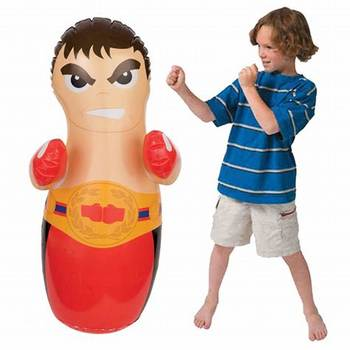 Funny Inflatable Toy 3d Boxing Punch Bob Bag For Kids Soft Nontoxic Pvc