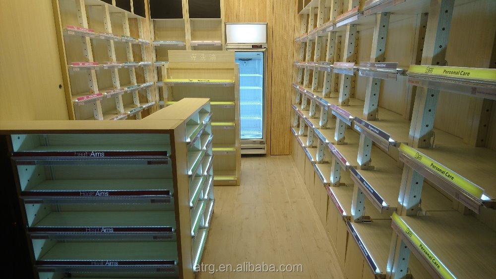 Creative Wooden Wall Shelf/supermarket Rack/supermarket Shelf ...