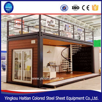 expandab luxury steel Prefabricated wooden house Folding container house/ villa container /container store Container room