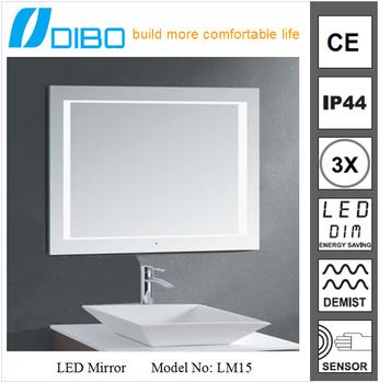 Bathroom Retractable Mirror Led Backlit Fog Proof Shower