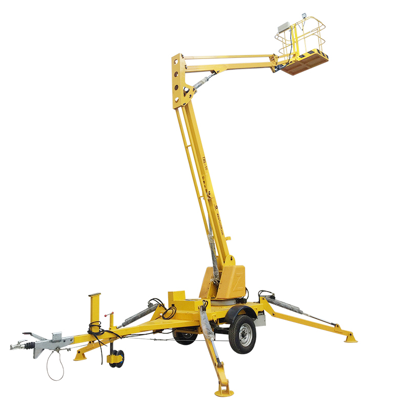 Factory direct supply compact getrokken spider boom lift