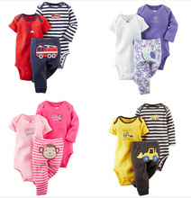 2016 New Baby Boy Newborn Baby Girl clothes 100 Cotton Clothing Baby Suit 3 Piece bebe