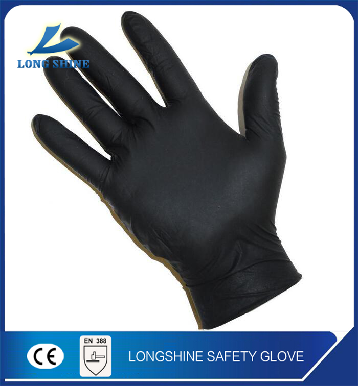 Cheap Disposable Powder Free bulk Medical Use Black Nitrile Exam <strong>Gloves</strong> Malaysia