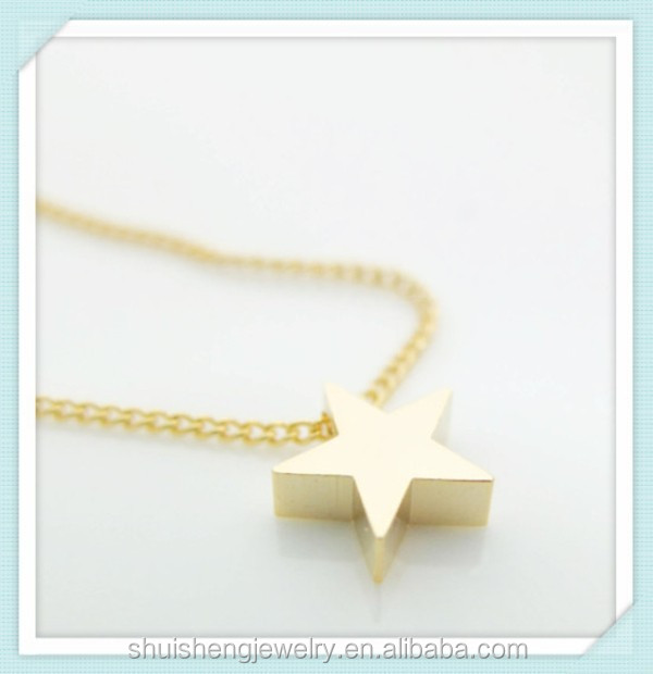 Latest design saudi gold jewelry fashion gold star pendant necklace