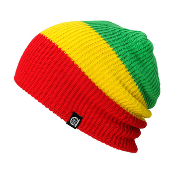 Stylish hot sale colorful free knitting pattern crochet rasta beanie hat