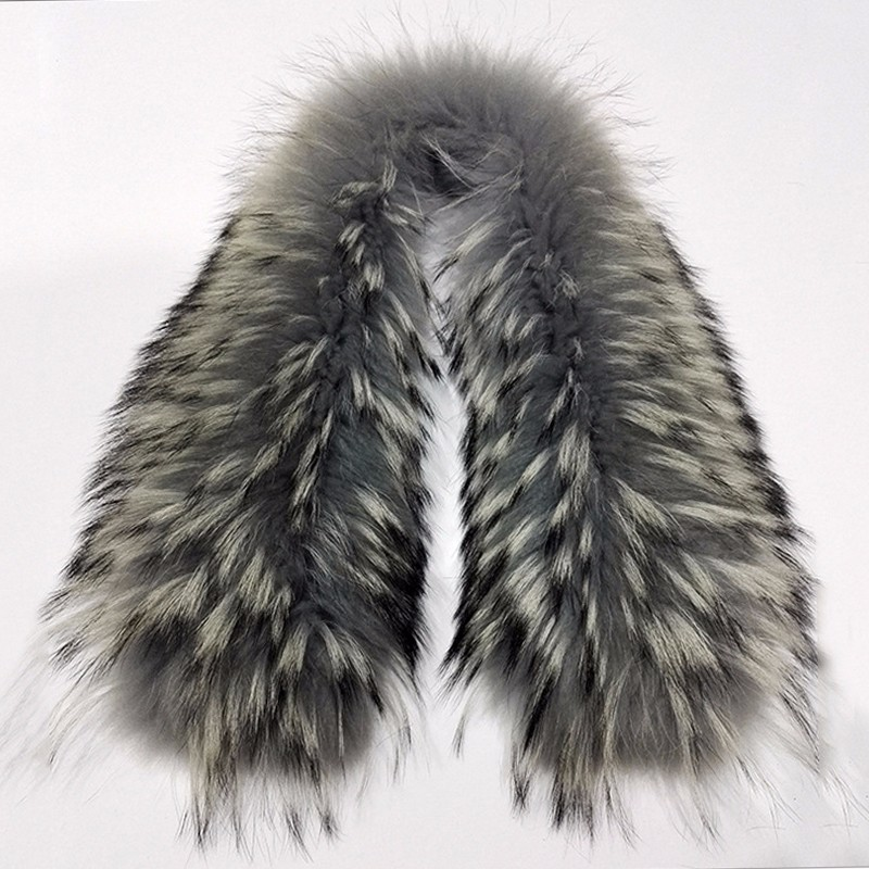 Myfur Customized Size And Colors Dyed Raccoon Fur Trim For Coats Wholesale Animal Fur Accessory