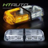 HTAUTO Amber 36 LED 18 Watts Hazard Warning LED Mini Bar Emergency Strobe Lights for Vehicle with Magnetic Base