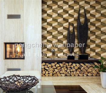 2015 New 3d Design Wallpaper Wood Design Wallpaper Decorative For