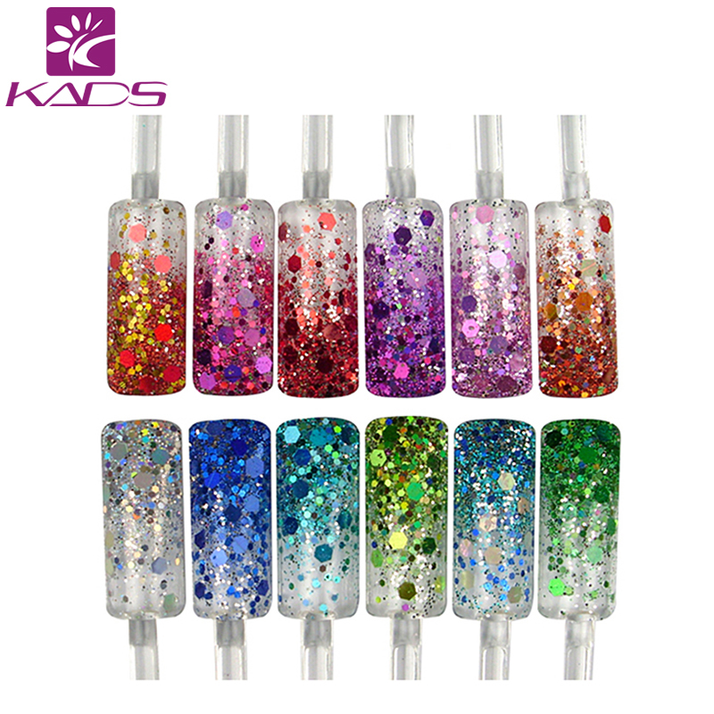Aliexpress.com : Buy KADS Glitter Nail Powder. 12color