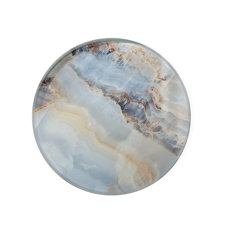 Grey Marble Glass Coaster For Drinks Housewarming Gift Coaster Drink Mat Tea Rug Coaster Tempered Glass Wine Mat Hardboard Coaster ZZ8165