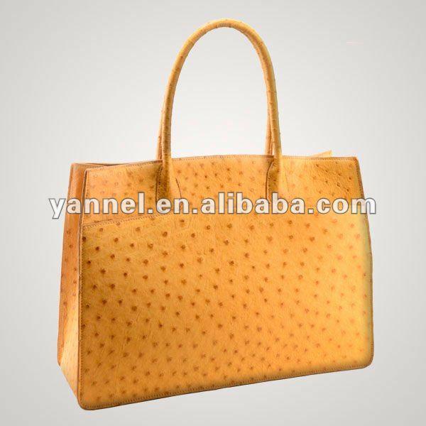 Genuine Ostrich Leather Women Tote Bag