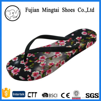 d7c3fc4c0 2017 new design fashion flower print girl eva thick sole flip flop slipper  for women