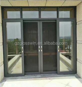 Aluminum Sliding Door With King Long Mesh In Guangzhou Factory