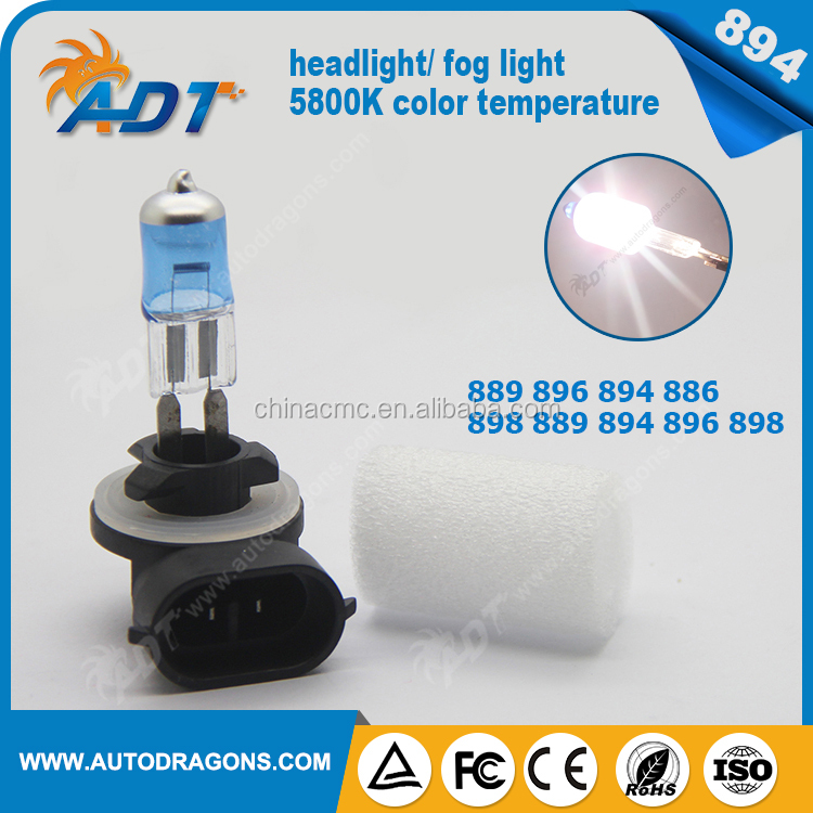 High quality super white 5800K 894 880 881 Xenon/Plasma halogen Head/Fog Light Bulbs AUTO CAR headlights DRL