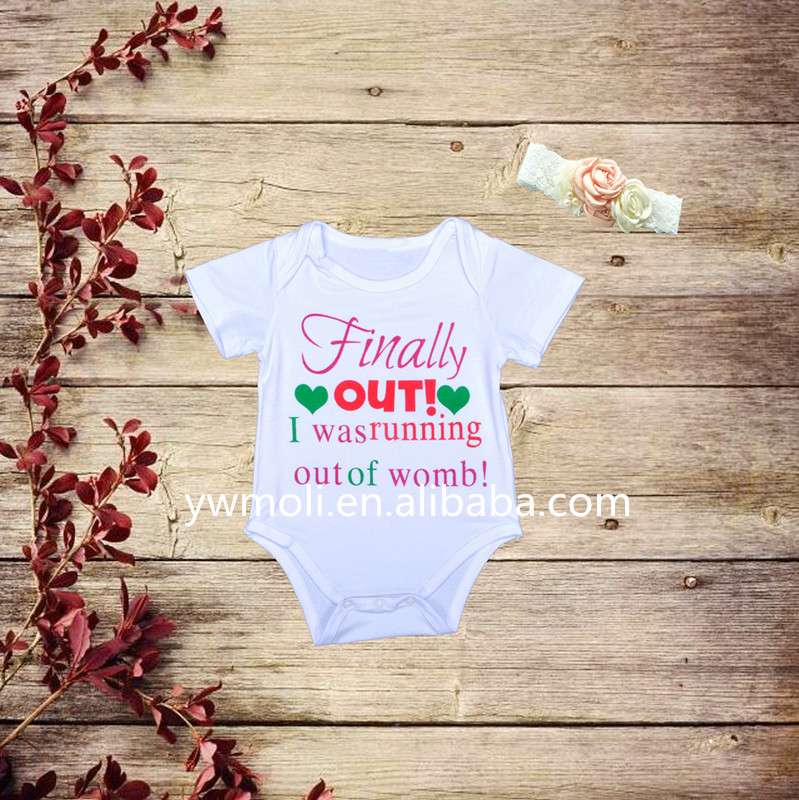New Arrival Custom Design Short Sleeve Swan Pattern Romper Baby Clothes Romper