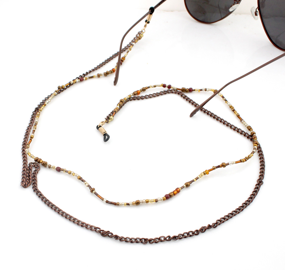 397a11aab GL310 الأزياء طويلة اصقل النحاس سلسلة خمر الطبقات سلاسل النظارات ...