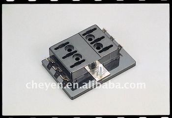 automobile fuse block for atc or ato fuses or plug-in ... plug fuse box vs circuit